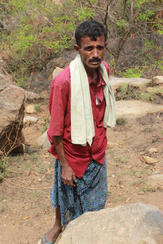 Putteramu, the local guide.