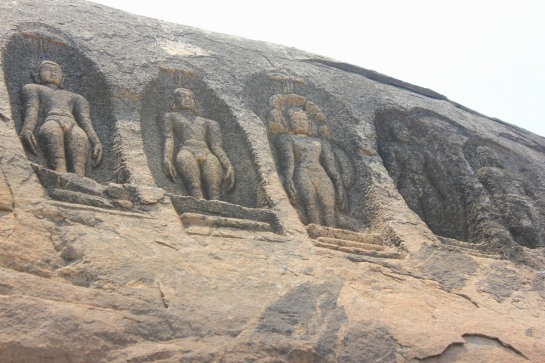 Engravings of Jain Thirthankaras.