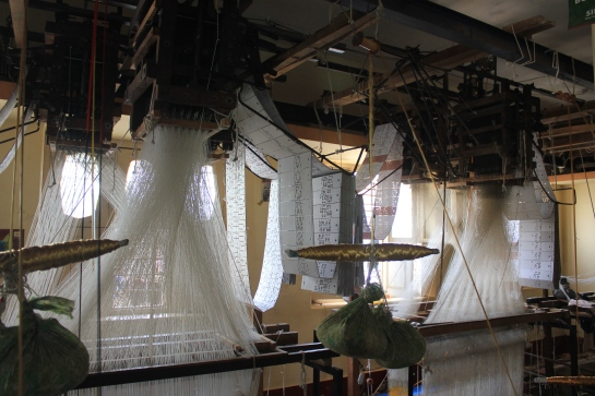 Inside a weaving unit