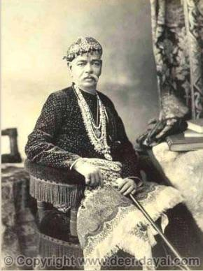 Bansi Raja Girdhari Prasad, Commander of Nizam's irregular forces. [Picture courtesy: www.deendayal.com (with permission from www.deendayal.com)]