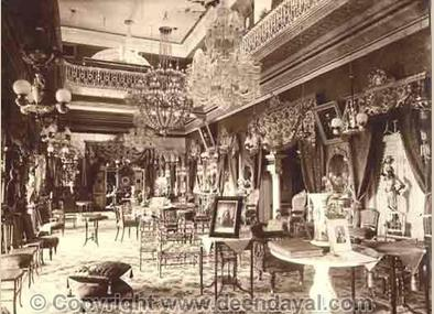 Interior of Chowmahal Palace, 1898. [Picture courtesy: www.deendayal.com (with permission from www.deendayal.com)]
