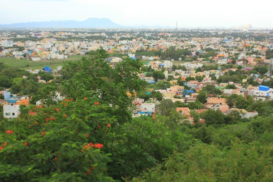 Aerial view of Madurai as seen from above Pasumalai Hill