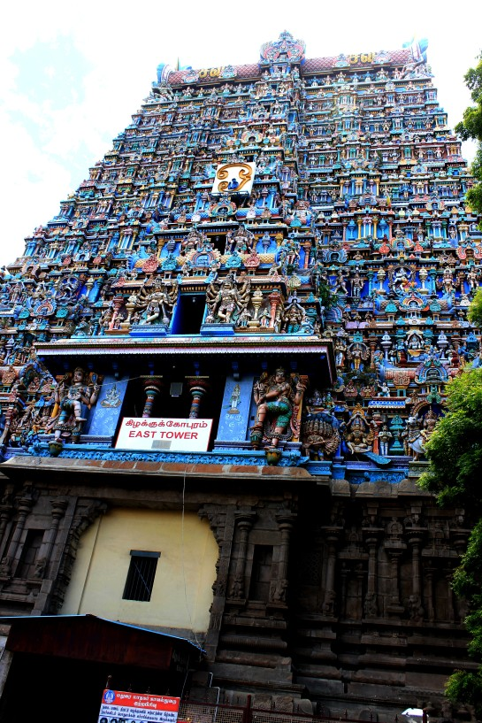 The East Tower of the Meenakshi Sundareshvara Temple
