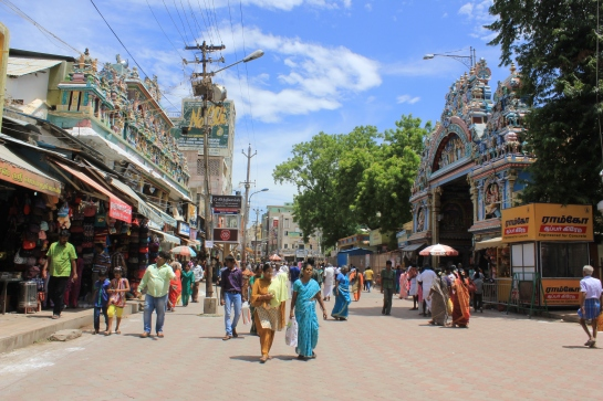 The street outside the Meenakshi Sundareshvara Temple, Madurai