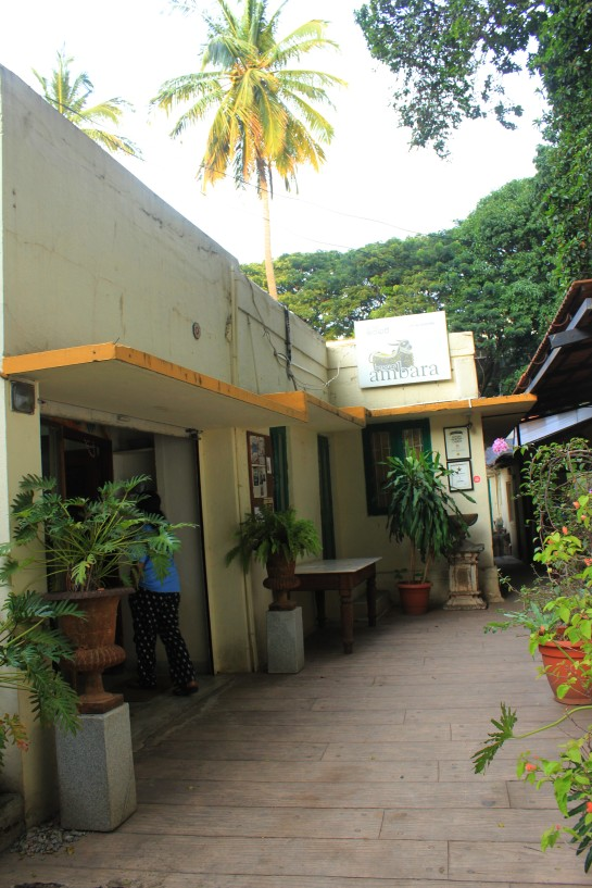 The outhouse of the Madhavans' home now houses Basava Ambara