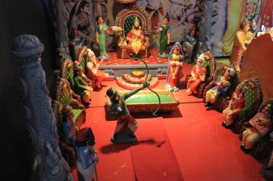 Rama breaks Shiva's celestial bow.