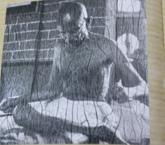 A Gandhi picture developed from a cracked negative