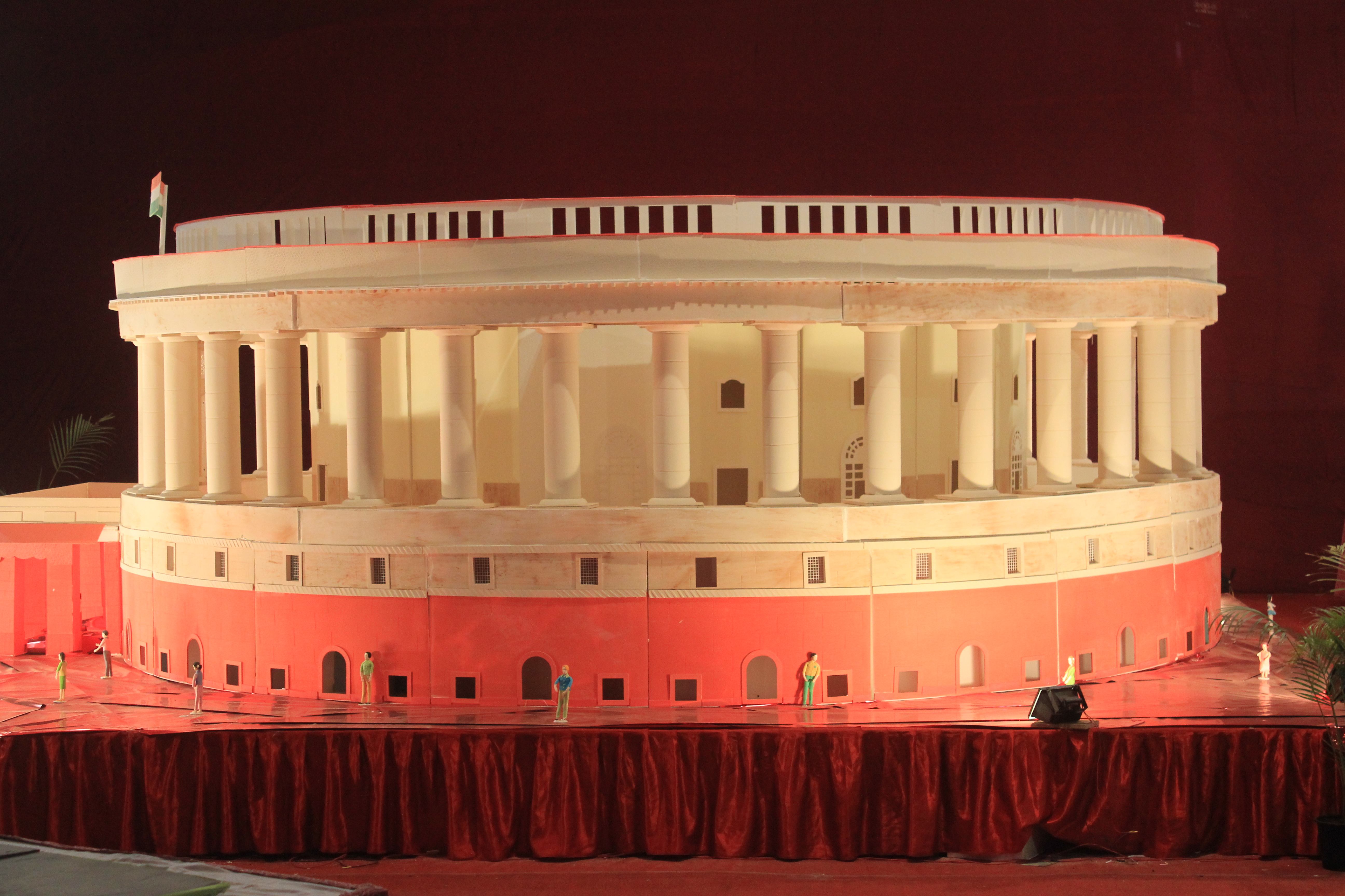 Model of indian parliament house